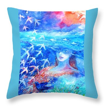 Sea Dreaming  Throw Pillow by Trudi Doyle