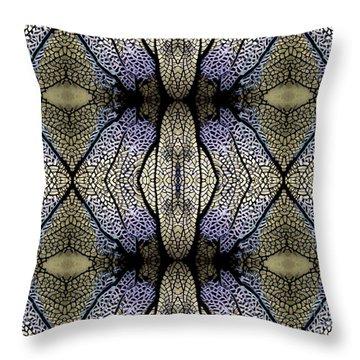 Sea Fan Abstract Throw Pillow