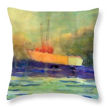 Sea Farer Throw Pillow by Marsden Burnell
