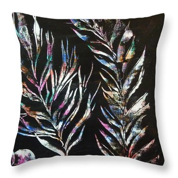 Sea Ferns Throw Pillow