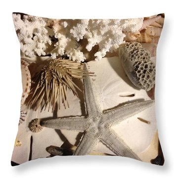 Sea Finds Throw Pillow