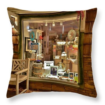 Sea Finds Side Window - Rehoboth Beach Delaware Throw Pillow