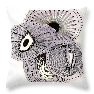 Sea Flowers #20 Throw Pillow