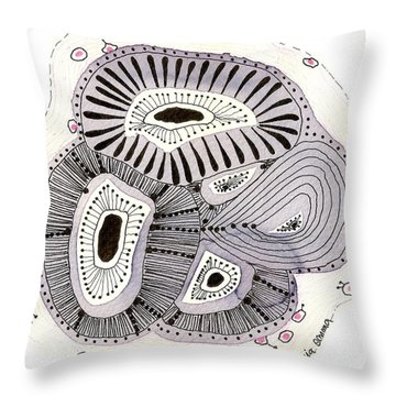 Sea Flowers Bis #20 Throw Pillow