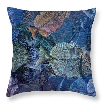 Sea Fossil World Throw Pillow