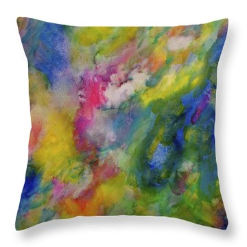 Throw Pillow featuring the painting Sea Garden by  Heidi Scott