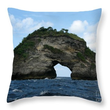 Sea Gate Throw Pillow by Sergey Lukashin