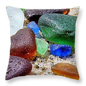Sea Glass Collection Throw Pillow