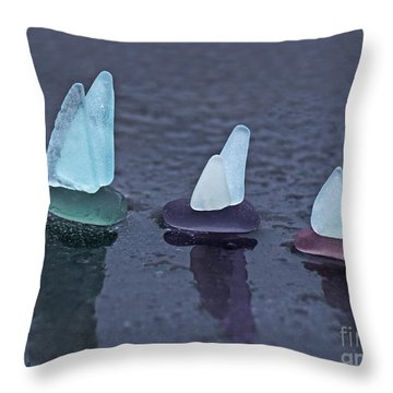 Sea Glass Flotilla Throw Pillow