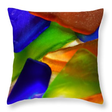 Sea Glass II Throw Pillow by Sherry Allen