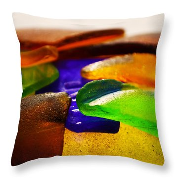 Sea Glass IIi Throw Pillow by Sherry Allen