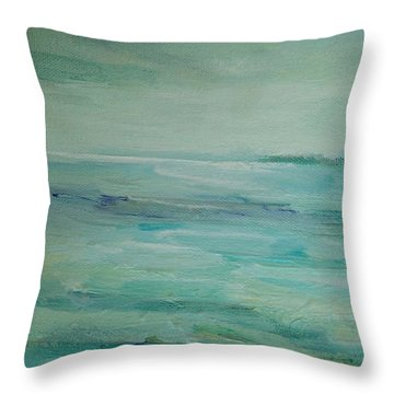 Sea Glass Throw Pillow by Mary Wolf