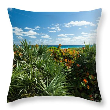 Sea Grapes And Saw Palmetto Throw Pillow