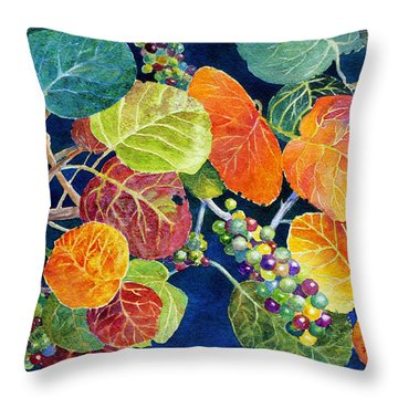 Throw Pillow featuring the painting Sea Grapes II by Roger Rockefeller