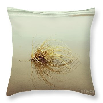 Sea Grass - Hipster Photo Square Throw Pillow