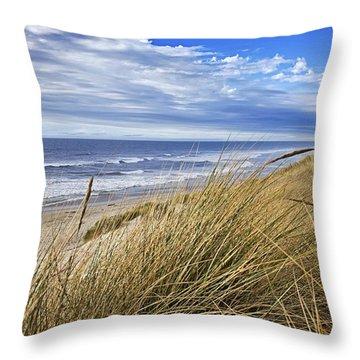 Sea Grass And Sand Dunes Throw Pillow
