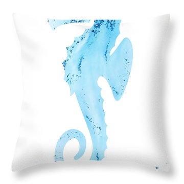 Sea-horsin' Around Throw Pillow