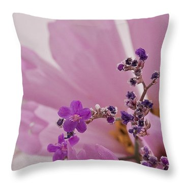 Throw Pillow featuring the photograph Sea Lavender Macro  by Sandra Foster