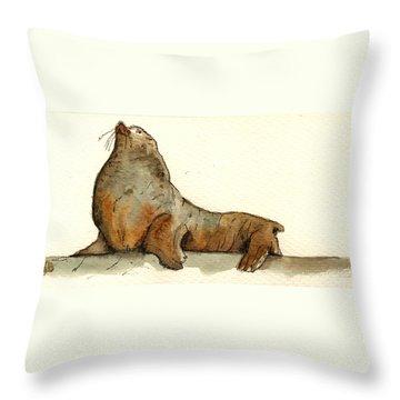 Walrus Throw Pillows