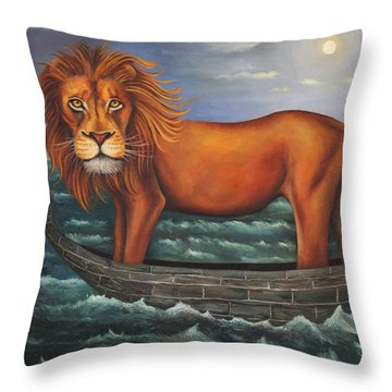 Sea Lion Softer Image Throw Pillow by Leah Saulnier The Painting Maniac