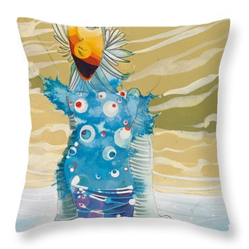 Sea Man Throw Pillow