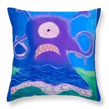 Monsterart Sludge Throw Pillow