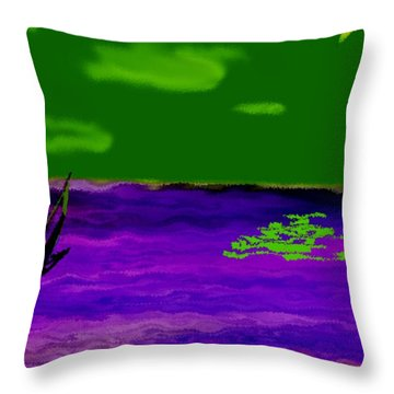 Sea. Moonlight. Night. Throw Pillow
