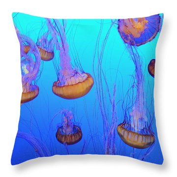 Sea-nettle Jelly Fish  Throw Pillow