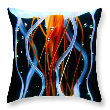 Sea Nettle Jellyfish Throw Pillow