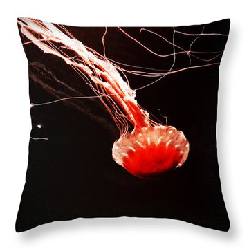 Throw Pillow featuring the photograph Sea Nettle by Zinvolle Art