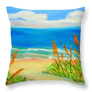 Sea Oat Path Throw Pillow