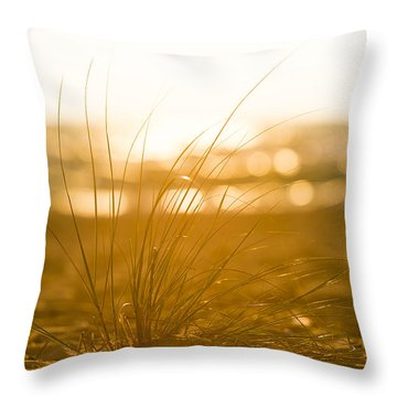 Throw Pillow featuring the photograph Sea Oats Sunset by Sebastian Musial