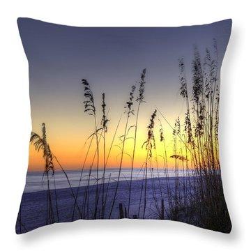 Sea Oats Throw Pillow