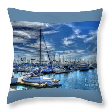 Throw Pillow featuring the photograph Sea Of Blue by Kevin Ashley