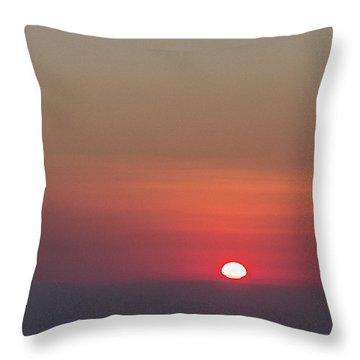 Sea Of Clouds Sunset Throw Pillow
