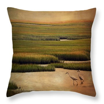 Sea Of Grass Throw Pillow by Lianne Schneider
