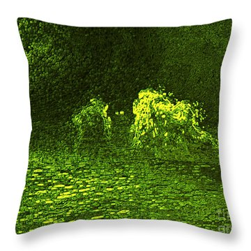 Sea Of Green Throw Pillow by Deborah DeLaBarre