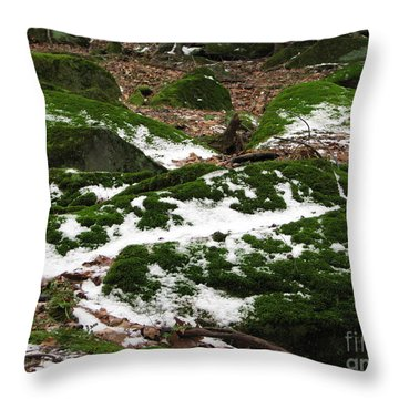 Sea Of Green Throw Pillow by Michael Krek