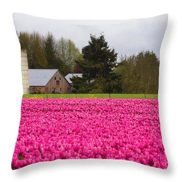 Sea Of Pink Throw Pillow