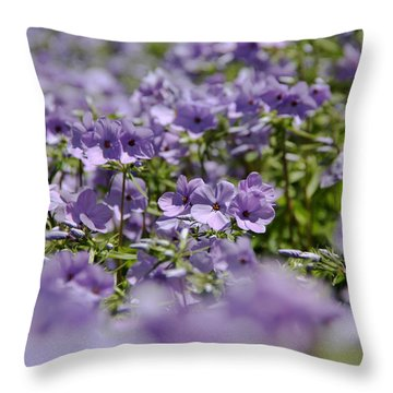 Sea Of Purple Throw Pillow