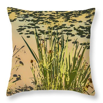 Throw Pillow featuring the photograph Sea Plants Abstract by Leif Sohlman