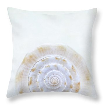 Sea Shell Throw Pillow by Stephanie Frey