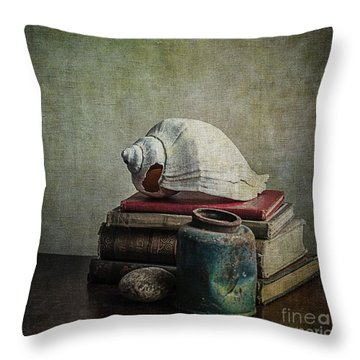 Sea Shell Stories Throw Pillow