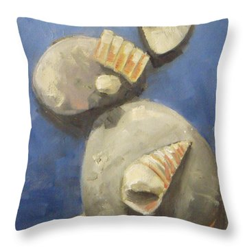 Sea Shells And Beach Stones Throw Pillow