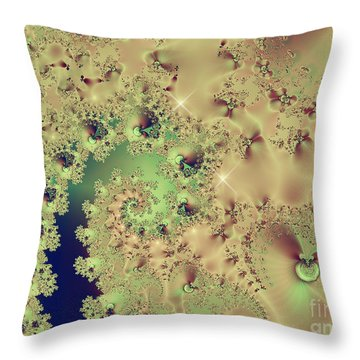 Sea Shells And Cockle Tales Abstract Digital Art Prints Throw Pillow