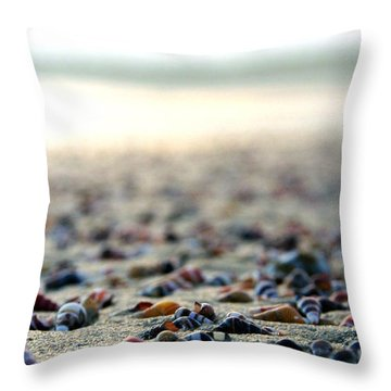 Sea Shells By The Sea Shore Throw Pillow by Kaleidoscopik Photography