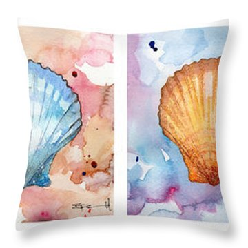 Sea Shells In Contrast Throw Pillow