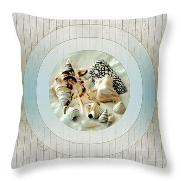 Sea Shells- Porthole No1 Throw Pillow