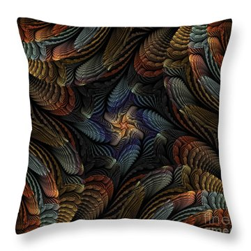 Sea Shells Throw Pillow by Shari Nees