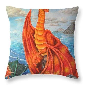 Sea Shore Pair Throw Pillow